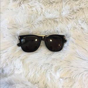 Retro Super Future Sunglasses - black & gold